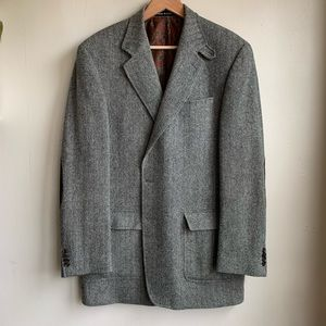 Lauren by Ralph Lauren vintage wool tweed blazer